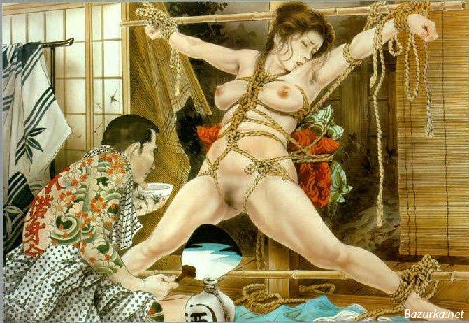 Красивые рисунки бдсм, от автора Yoji Muku.