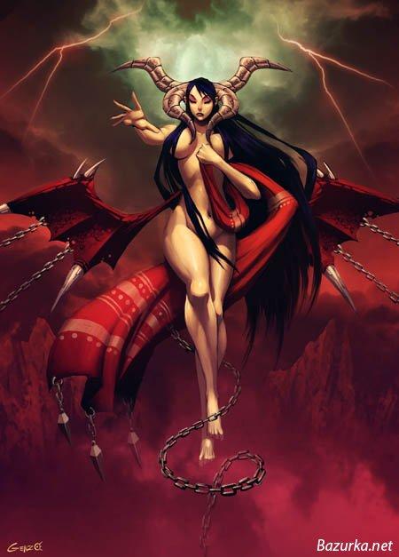 Картинки сексуальных женщин демонов