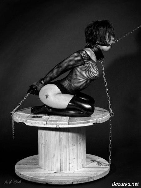 Cock ball rope bondage